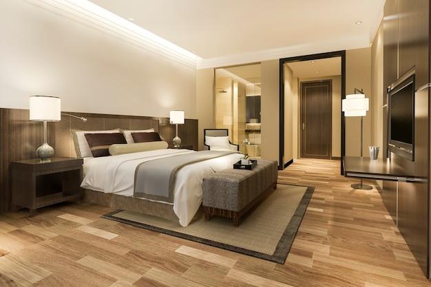 Suite chambre et salle de bain de luxe moderne
