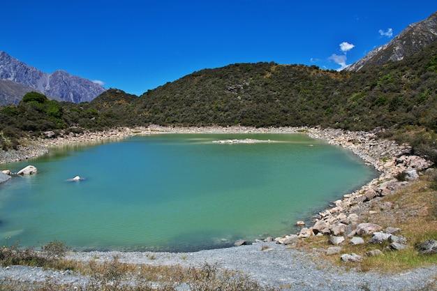 Suivi sur le glacier tasman, nouvelle-zélande,