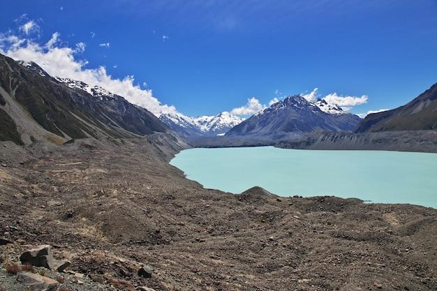 Suivi sur le glacier tasman, nouvelle zélande,