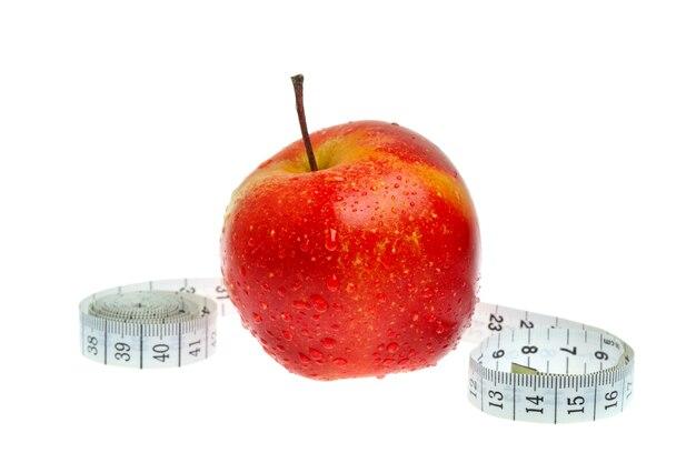 Suivre un régime pomme rouge et mesure isolée