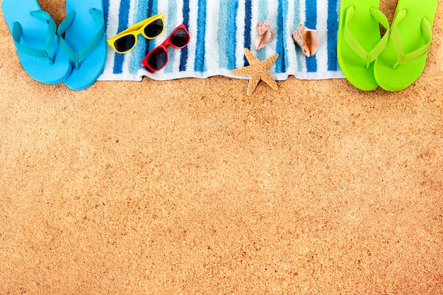 Summer beach fond frontière