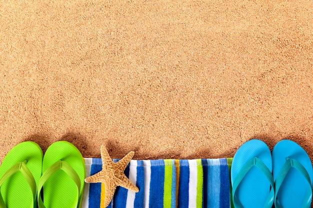 Summer beach frontière