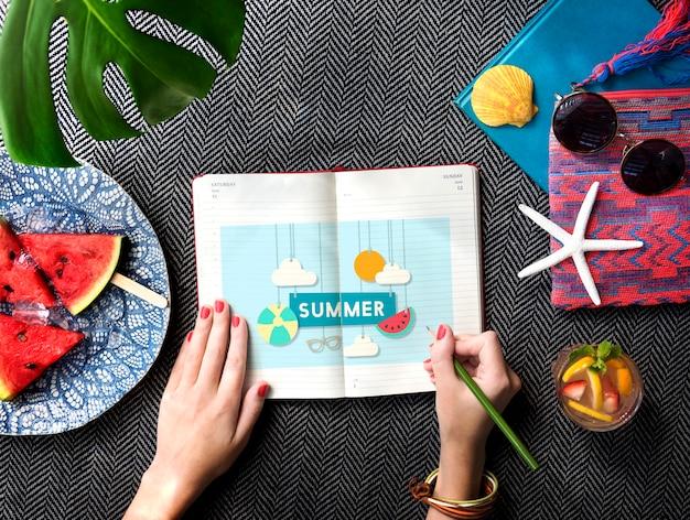 Summer break fun party concept de bannière