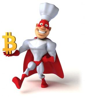 Super-héros amusant - illustration 3d