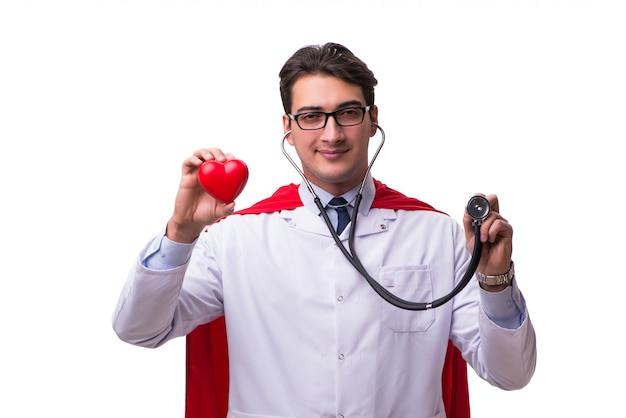 Super héros médecin isolé
