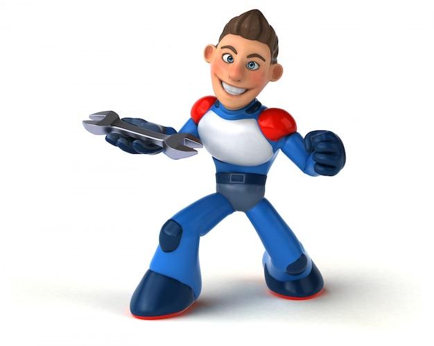Super-héros super moderne - illustration 3d