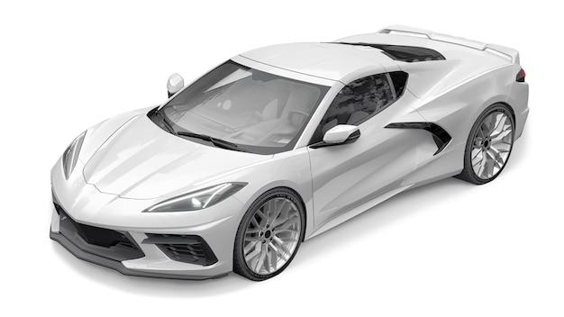 Super voiture de sport sur fond blanc. illustration 3d.