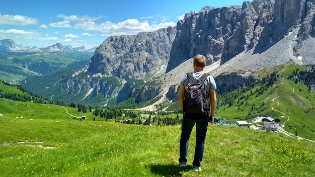 Superbe vue sur les dolomites, tyrol du sud.