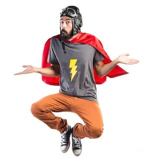 Superhero ayant des doutes