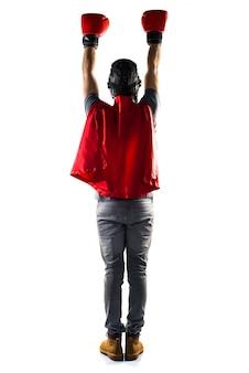 Superhero avec des gants de boxe
