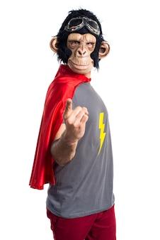 Superhero monkey man shouting