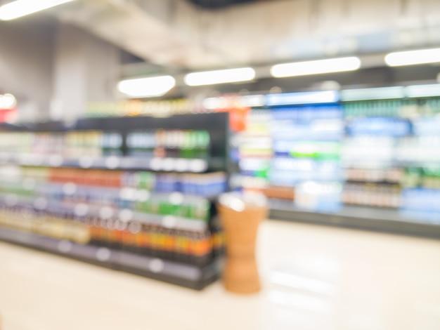 Supermarché flou abstrait, concept de mode de vie urbain. dof peu profond