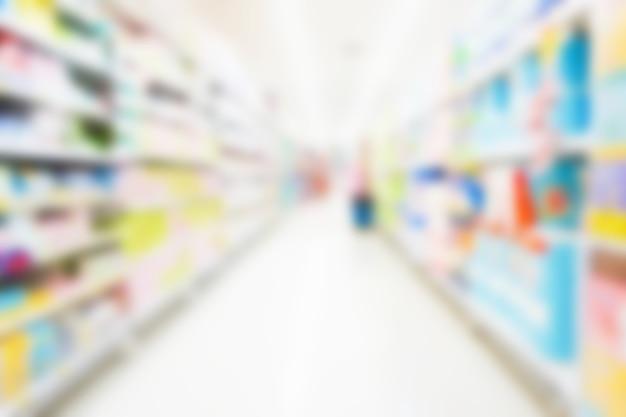 Supermarché flou et défocalisé pour le fond
