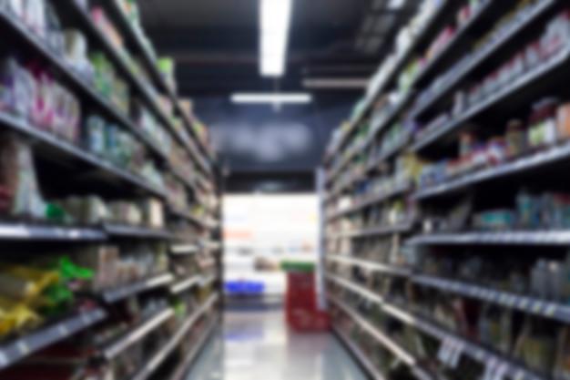 Supermarché flou pour le fond
