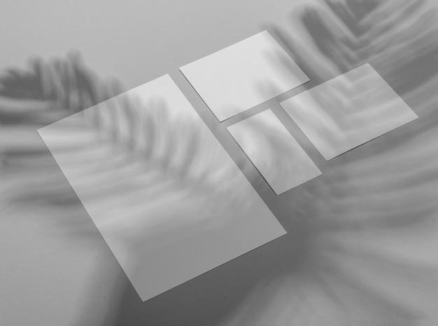 Superposition de brochure simple avec ombre de végétation