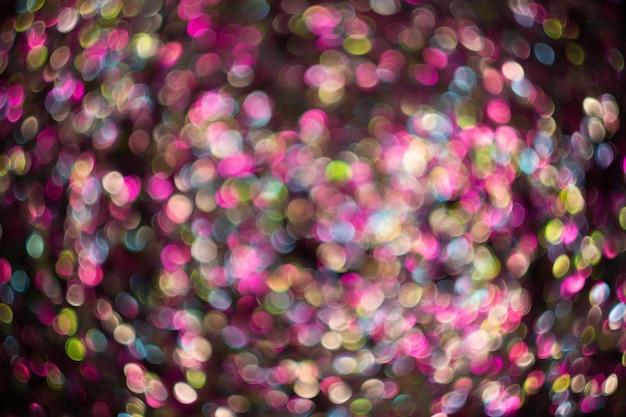 Superposition de fond abstrait brillant de paillettes rose doré