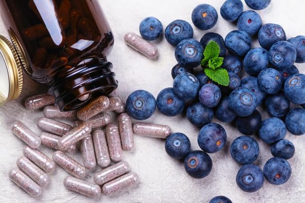 Supplément biologiquement actif - des pilules pour la santé des yeux