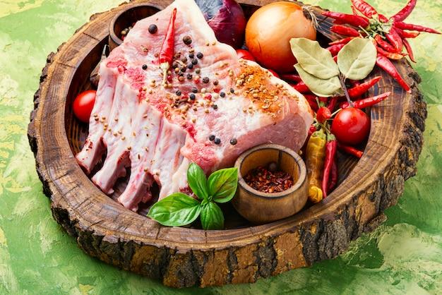 Support de côtes de porc