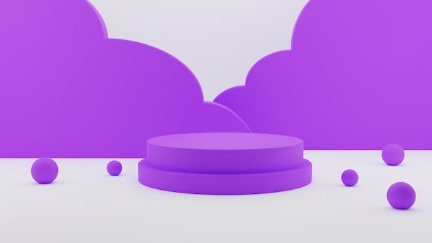 Support de piédestal de podium abstrait cercle violet élégant