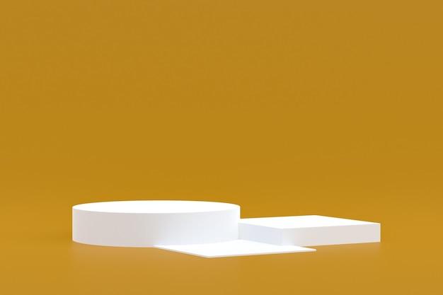 Support de produit, podium minimal sur fond marron pour la présentation de produits cosmétiques.
