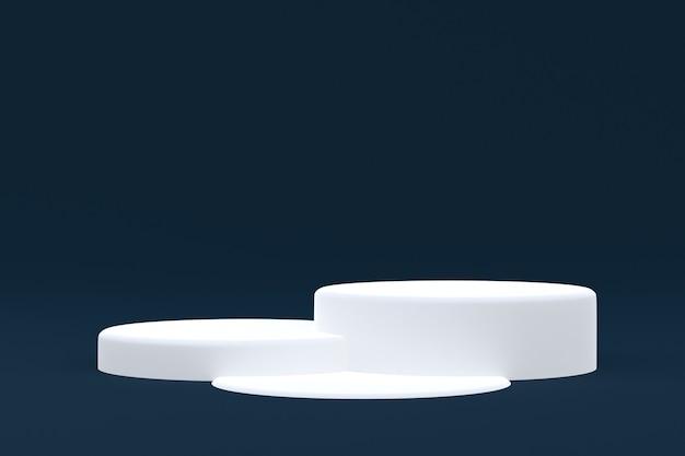 Support de produit, podium minimal sur fond sombre pour la présentation de produits cosmétiques.
