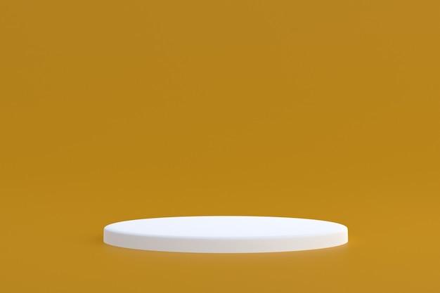 Support produit, podium minimal sur marron pour la présentation des produits cosmétiques.