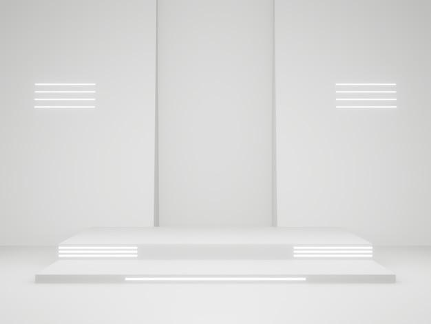 Support de produit scientifique rendu en 3d. scène blanche.
