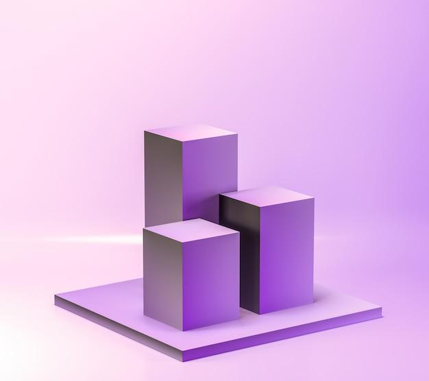 Support de produit vierge géométrique de couleur violet pastel abstrait