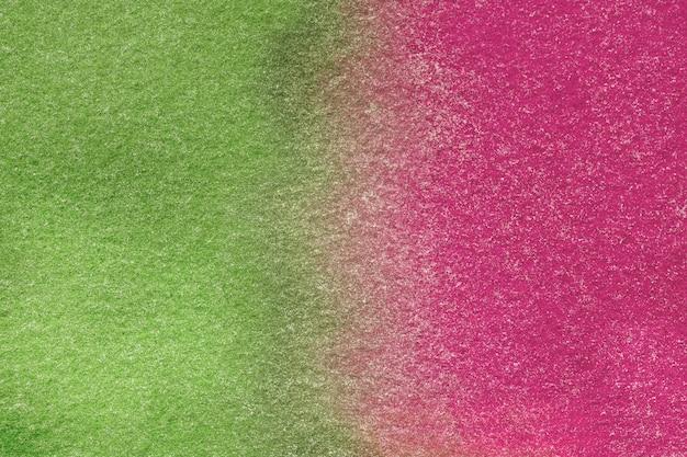 Surface abstraite vert vif et violet