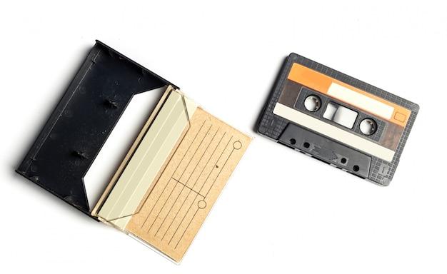 Surface blanche isolée cassette cassette vintage