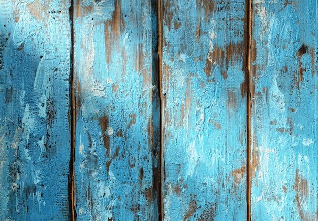 Surface en bois rustique bleue avec rayon de lumière
