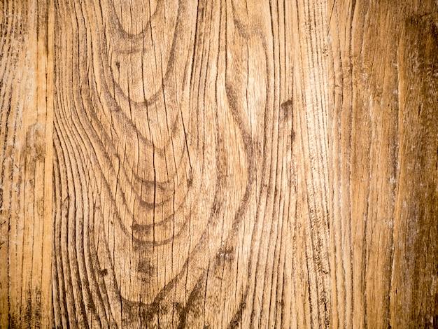 Surface en bois texturé de la table