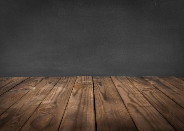 Surface en bois vide avec espace vide