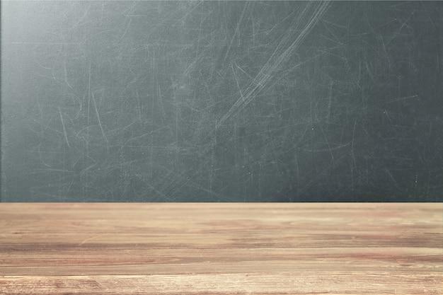 Surface en bois vide sur fond de tableau