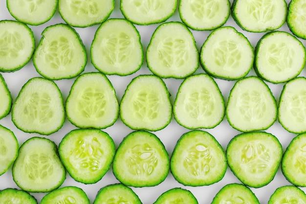 Surface de concombre frais tranché