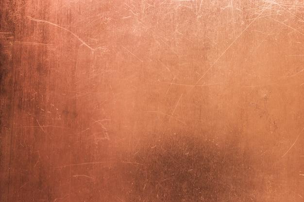 Surface en cuivre rayé