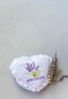 Surface du coeur du monde vintage montenegro