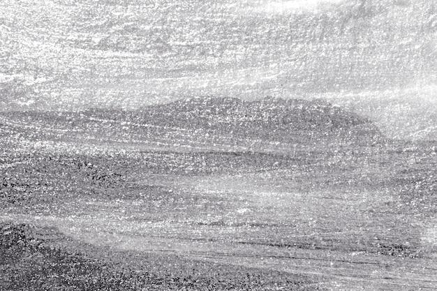 Surface du mur en béton peint en gros argent