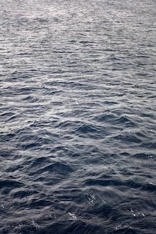 Surface de l'eau bleu foncé en mer profonde