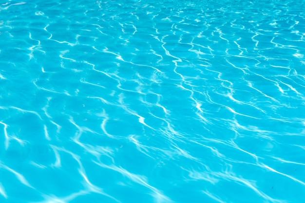 Surface de l'eau bleue