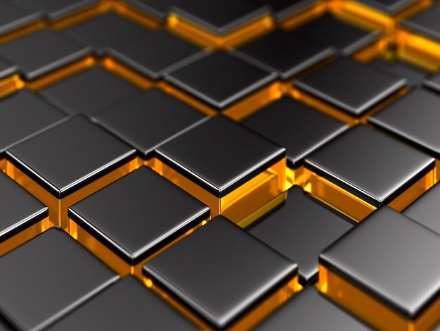 Surface éclairée abstraite. illustration 3d