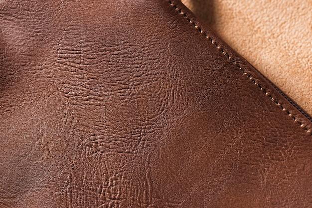 Surface de fond en cuir de qualité extrêmement gros plan