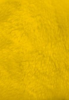 Surface de la fourrure jaune vue rapprochée