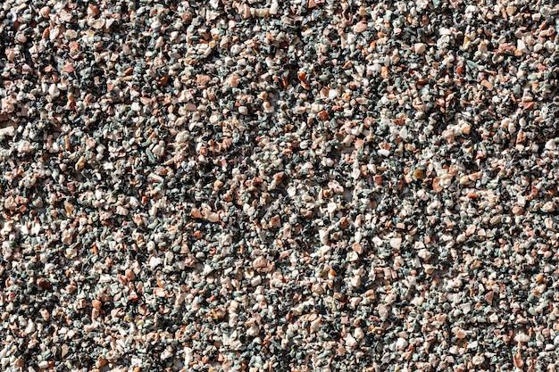 Surface de galets colorés