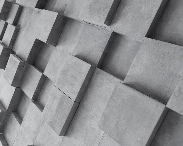 Surface grise créative avec des carrés