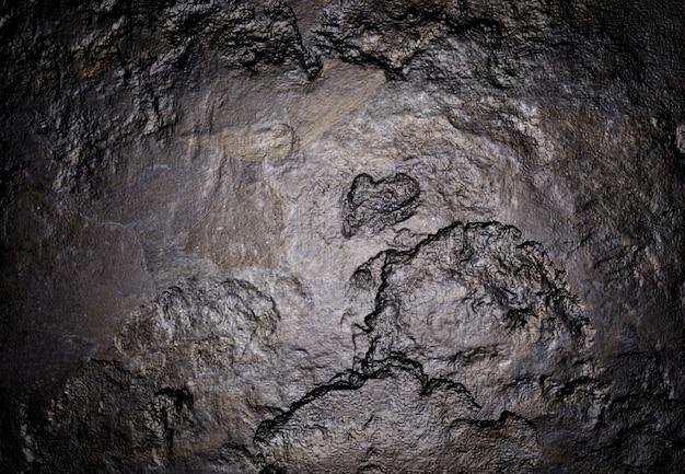 La surface grise et noire du grunge métallique raye les vieux milieux métalliques texturés