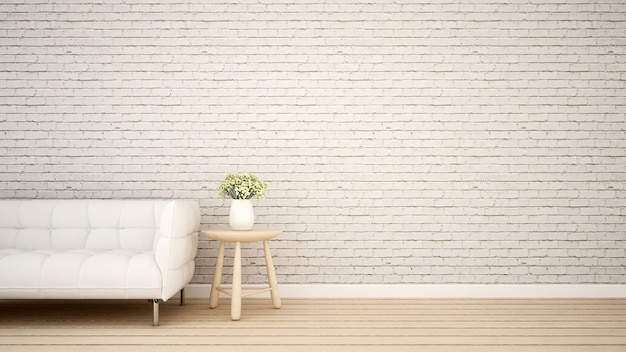 Surface habitable dans un appartement ou un café - rendu 3d