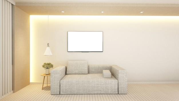 Surface habitable dans un hôtel ou un appartement - rendu 3d