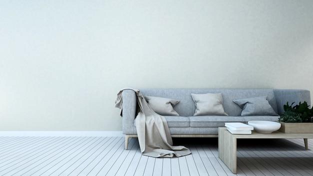Surface habitable dans la maison ou dans l'appartement - rendu 3d