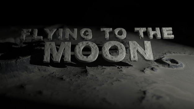 La surface de la lune avec des cratères avec le texte